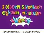 sixteen  seventeen  eighteen ... | Shutterstock .eps vector #1903459909