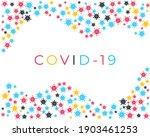 corona virus or covid 19 cells... | Shutterstock .eps vector #1903461253