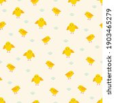 easter seamless pattern with... | Shutterstock .eps vector #1903465279