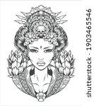 geisha vector illustration. eps ...   Shutterstock .eps vector #1903465546