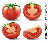 tomato set .a set of realistic... | Shutterstock .eps vector #1903506640