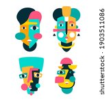 face portrait abstraction wall... | Shutterstock .eps vector #1903511086