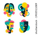 face portrait abstraction wall...   Shutterstock .eps vector #1903511089