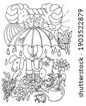 cute coloring page with a child ... | Shutterstock .eps vector #1903522879