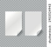 vector white realistic paper... | Shutterstock .eps vector #1903524943