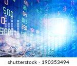 stock exchange graph background  | Shutterstock . vector #190353494
