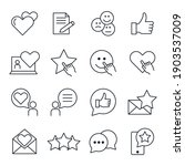 customer testimonials set icon. ... | Shutterstock .eps vector #1903537009