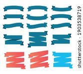set of ribbons for anniversary. ... | Shutterstock .eps vector #1903538719