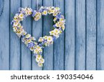 Flower Heart On Wooden...