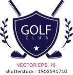 golf club logo design template. ...   Shutterstock .eps vector #1903541710