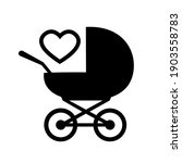 baby carriage icon on white... | Shutterstock .eps vector #1903558783