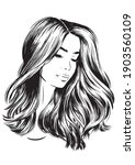 face of beautiful young woman...   Shutterstock .eps vector #1903560109