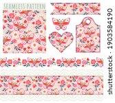 seamless borders  elements for... | Shutterstock .eps vector #1903584190