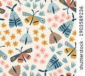 floral seamless pattern. hand...   Shutterstock .eps vector #1903589236