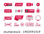 collection of live streaming... | Shutterstock .eps vector #1903591519