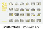 24 house icon in filled outline ...