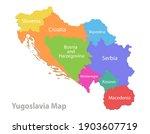 yugoslavia map  administrative... | Shutterstock .eps vector #1903607719