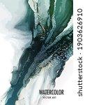 pouring art green marble... | Shutterstock .eps vector #1903626910