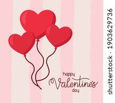 happy valentines day lettering...   Shutterstock .eps vector #1903629736