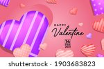 happy valentine background...   Shutterstock .eps vector #1903683823