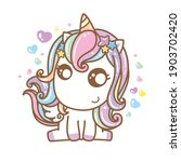 cute unicorn vector pony... | Shutterstock .eps vector #1903702420