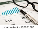 business graph analysis report. ... | Shutterstock . vector #190371506