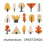 forest trees set  color... | Shutterstock .eps vector #1903723426