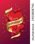 happy valentine's day poster... | Shutterstock .eps vector #1903808740