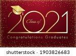 class of 2021 year graduation... | Shutterstock .eps vector #1903826683