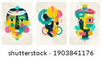 face portrait abstraction wall... | Shutterstock .eps vector #1903841176