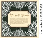 wedding invitation cards with... | Shutterstock .eps vector #190385954
