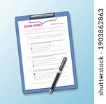 realistic test paper... | Shutterstock .eps vector #1903862863