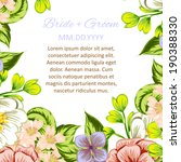 wedding invitation cards with... | Shutterstock . vector #190388330