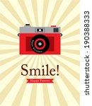 smile camera poster | Shutterstock .eps vector #190388333