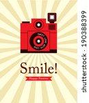 smile camera poster | Shutterstock .eps vector #190388399