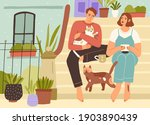 young couple spending leisure...   Shutterstock .eps vector #1903890439