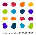 blob shapes vector set. organic ...   Shutterstock .eps vector #1903899253