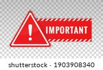 important notice. red icon...   Shutterstock .eps vector #1903908340