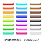 set of colorful 3d plastic web... | Shutterstock .eps vector #190392614