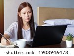new normal  work from home ... | Shutterstock . vector #1903946473