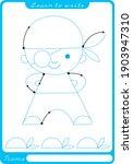 pirate. preschool worksheet for ...   Shutterstock .eps vector #1903947310