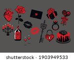 gothic valentine's day icons  ...   Shutterstock .eps vector #1903949533