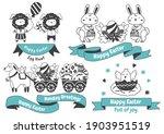 easter vector illustration for... | Shutterstock .eps vector #1903951519