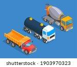 oil transportation. truck  tank ... | Shutterstock .eps vector #1903970323