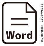word icon   major file format...   Shutterstock .eps vector #1903996186