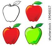 apple | Shutterstock .eps vector #19040017