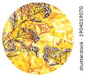 Circle Watercolor Pattern With...