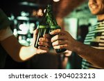Men With Beer Celebrating St...