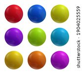 set of multicolored vector... | Shutterstock .eps vector #1904025559
