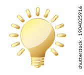 light bulb icon. gold light... | Shutterstock .eps vector #1904025916